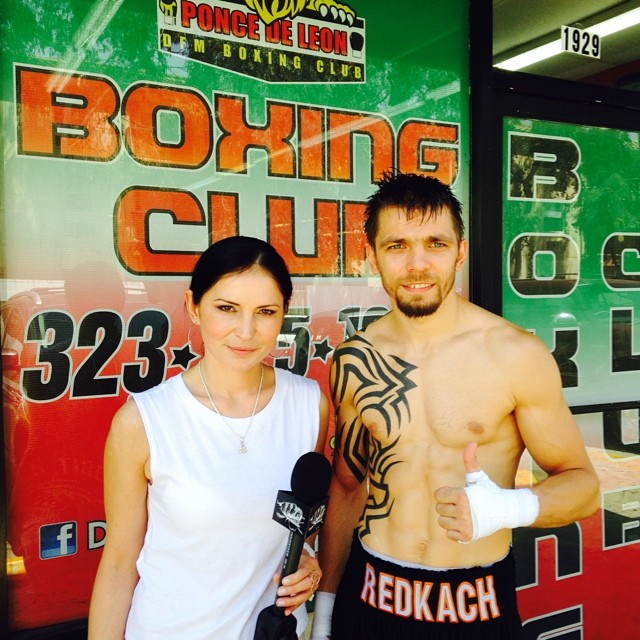 Ivan Redkach outside Ponce De Leon Gym in Montebello, California