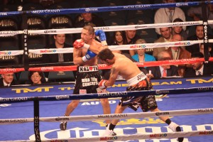 John Molina lands a right cross
