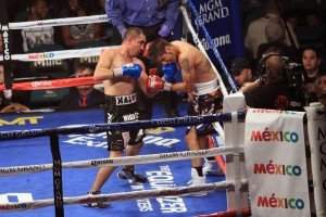Soto lands left uppercut